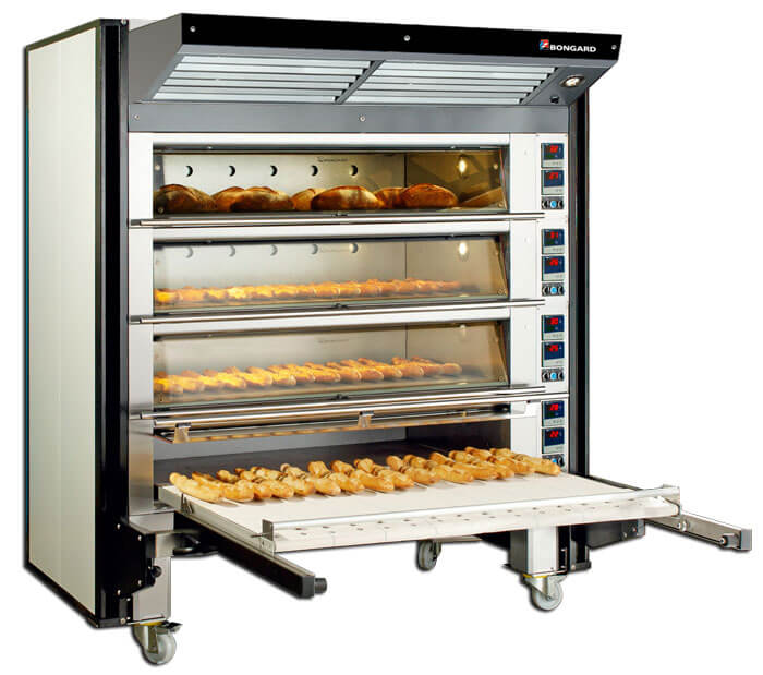 Integrated lifter for modular oven Soleo